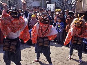 冠稲荷神社の獅子舞
