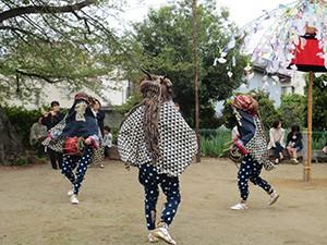 東矢島長良神社の獅子舞