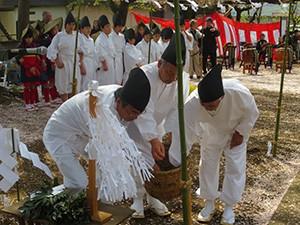 東長岡神明宮のお田植祭