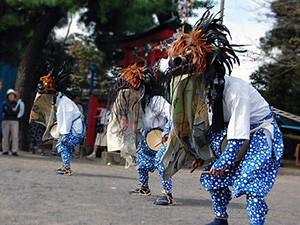 赤堀八幡宮の獅子舞